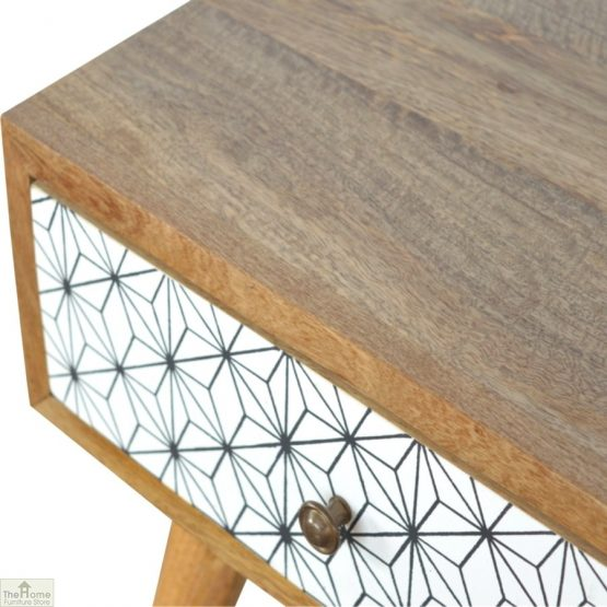Geometric Print 1 Drawer End Table_4