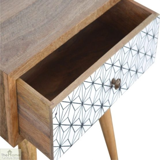 Geometric Print 1 Drawer End Table_5