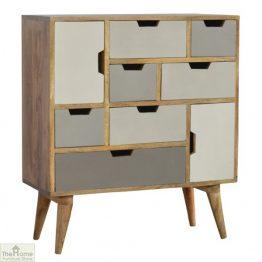 Winchester Grey 7 Drawer 2 Door Cabinet_1