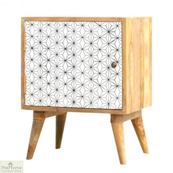 Geometric Print 1 Door Bedside Cabinet_2