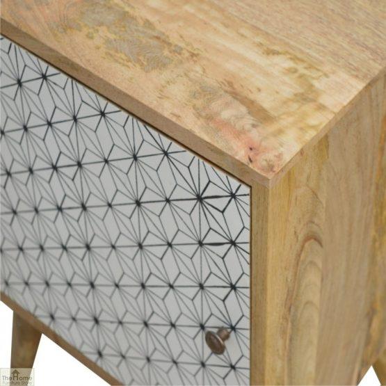 Geometric Print 1 Door Bedside Cabinet_5