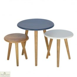 Winchester Navy Round Nest 3 Tables