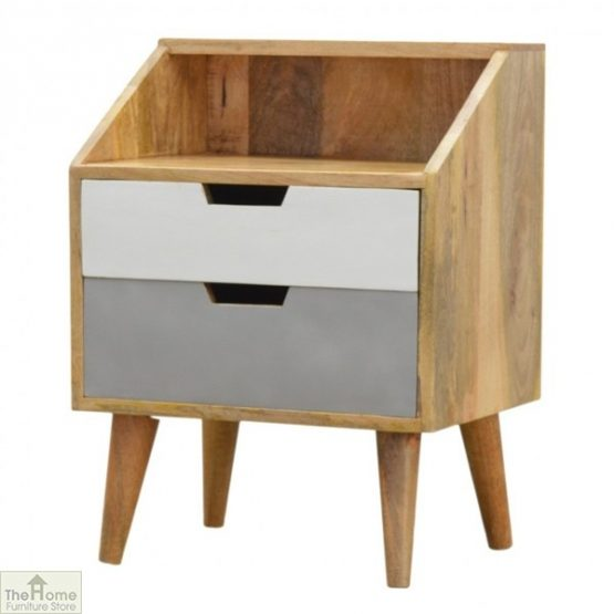 Winchester Grey 2 Drawer Bedside Table_2