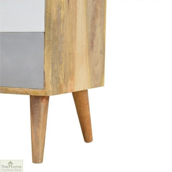 Winchester Grey 2 Drawer Bedside Table_8
