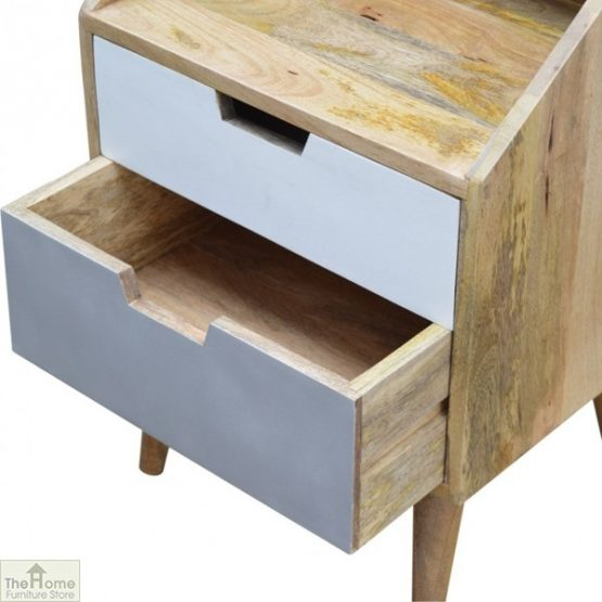 Winchester Grey 2 Drawer Bedside Table_6
