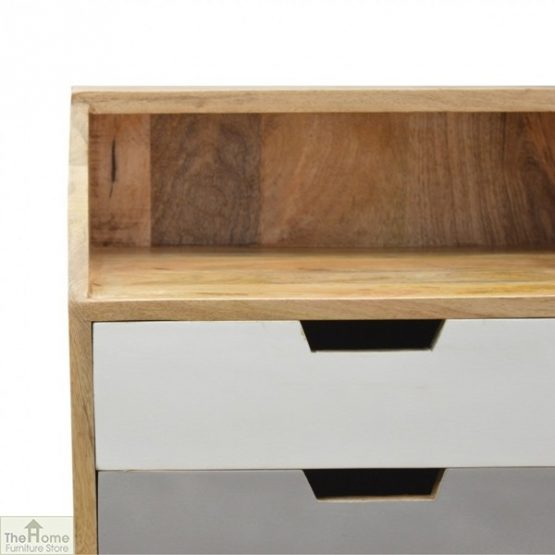 Winchester Grey 2 Drawer Bedside Table_7