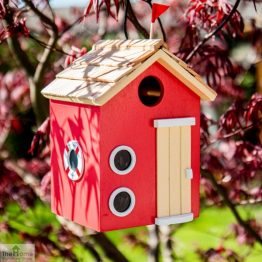 Beach Hut Red Bird House_1