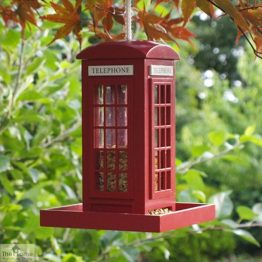 Red Telephone Box Bird Feeder_1