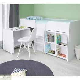 White 3ft Loft Bed Bundle_1White 3ft Loft Bed Bundle_1