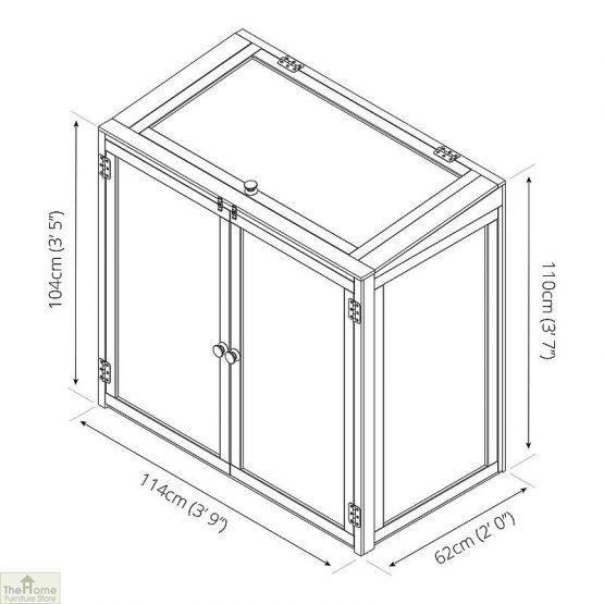 4 x 2 Mini Wooden Greenhouse_11