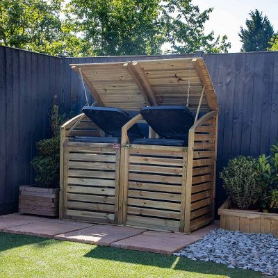 Pressure Treated Double Bin Store_2