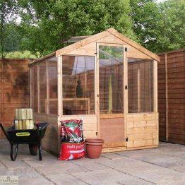 6 x 6 Evesham Wooden Greenhouse_1
