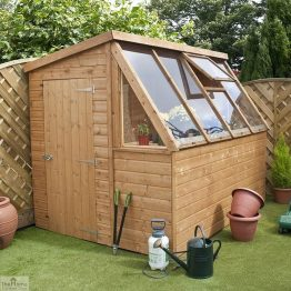 8 x 6 Wooden Potting Shed Greenhouse _1