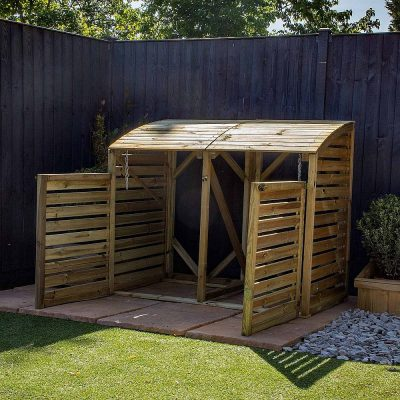 Pressure Treated Double Bin Store_3