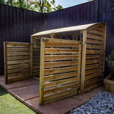 Pressure Treated Double Bin Store_5