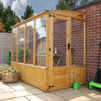 8 x 4 Lean-to Wooden Greenhouse_1