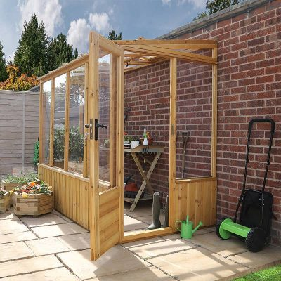 8 x 4 Lean-to Wooden Greenhouse_2