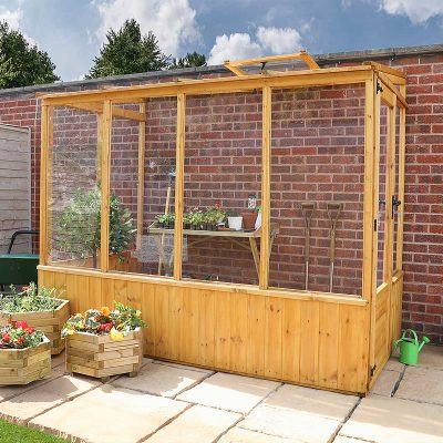 8 x 4 Lean-to Wooden Greenhouse_3