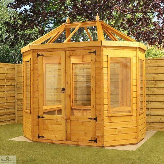 8 x 6 Octagonal Wooden Greenhouse_2