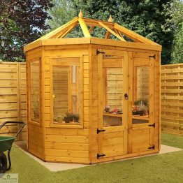 8 x 6 Octagonal Wooden Greenhouse_1