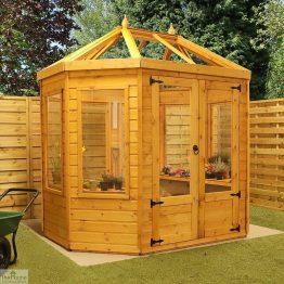 8 x 6 Octagonal Wooden Greenhouse_1