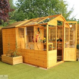 10 x 6 Combi Wooden Greenhouse Shed_1