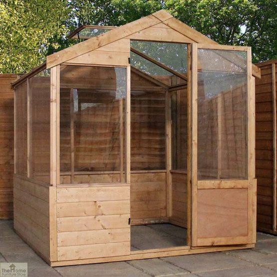 6 x 4 Evesham Wooden Greenhouse _1