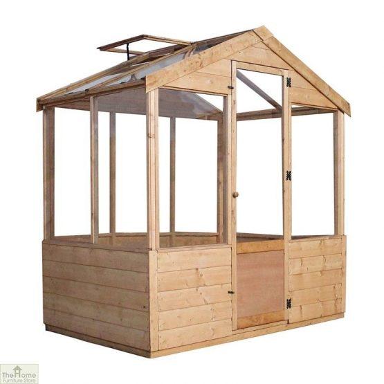 6 x 4 Evesham Wooden Greenhouse