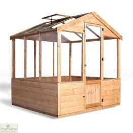 6 x 6 Evesham Wooden Greenhouse