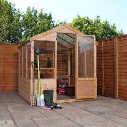 8 x 6 Evesham Wooden Greenhouse_1