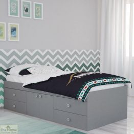 Grey 4 Drawer Single Cabin Bed_1