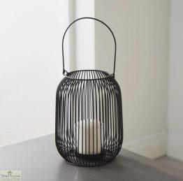 Black Cage Lantern Candle Holder_1