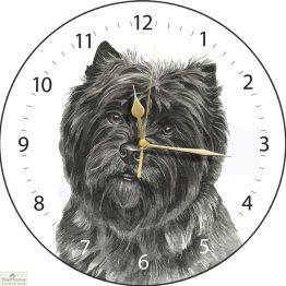 Cairn Terrier Dog Print Wall Clock