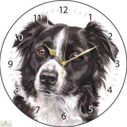 Border Collie Dog Print Wall Clock