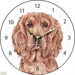 Cocker Spaniel Dog Print Wall Clock