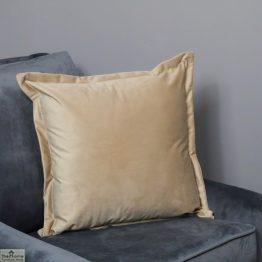 Beige Square Velvet Cushion Cover_1