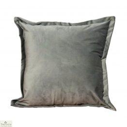 Grey Square Velvet Cushion Cover