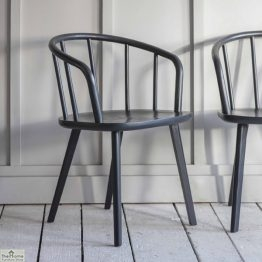 Charcoal Carver Dining Chair Pair_1
