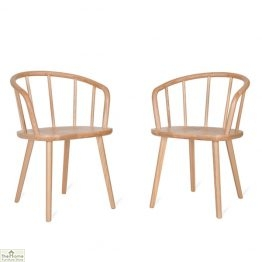 Natural Carver Dining Chair Pair