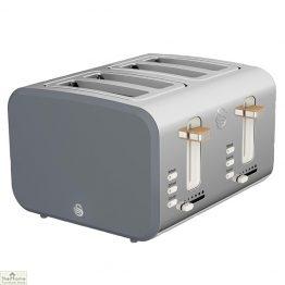 Grey Nordic 4 Slice Toaster