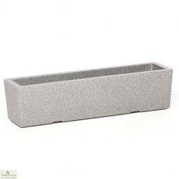 Grey Rectangular Garden Planter