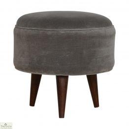 Nordic Style Velvet Upholstered Stool