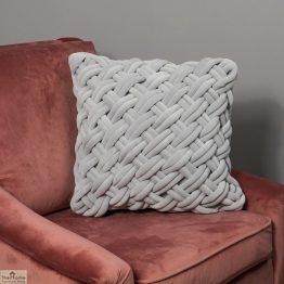 Handknotted Grey Velvet Cushion Cover_1