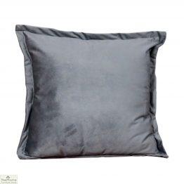 Textured Grey Velvet Cushion Cover