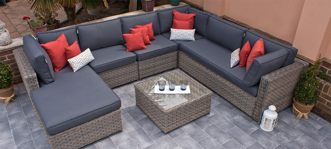 Rattan Corner Sofa Set
