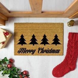 Merry Christmas Greeting Doormat_1