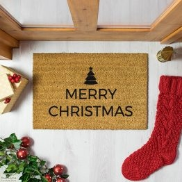 Traditional Merry Christmas Greeting Doormat_1