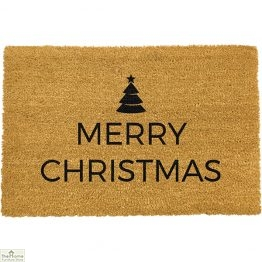 Traditional Merry Christmas Greeting Doormat