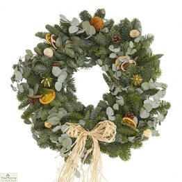 Traditional Citrus Real Christmas Wreath 50cm