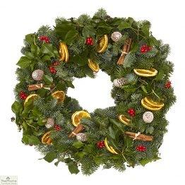 Traditional Sloane Real Christmas Wreath 50cm